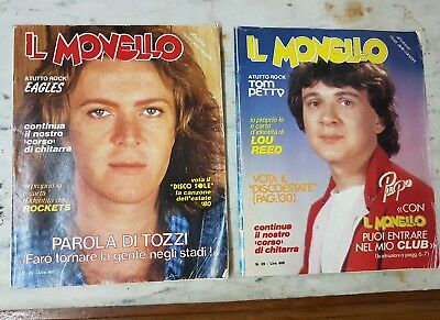 2 Riviste Il Monello N. 26 & N.29 1980 Lou Reed Eagles Rockets T.petty Tozzi Pup