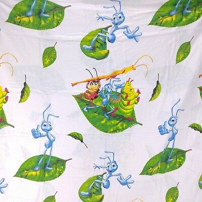 Its A Bugs Life Flannel Twin Flat Sheet Fabric Sewing Quilting Disney