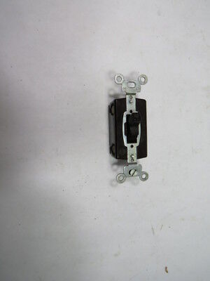 Hubbell 1101 Brown Toggle Switch 15 Amp 120-277 Volt  USED