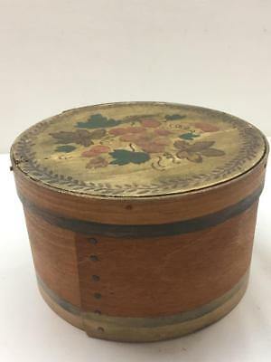 Early Antique Primitive Wood Pantry Shaker Box Painted