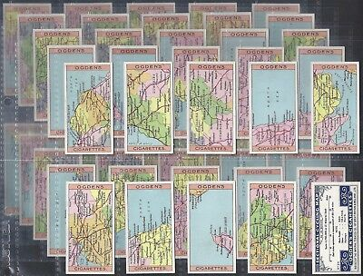 Ogdens-Full Set- Sectional Cycling Map (50 Cards) - Exc
