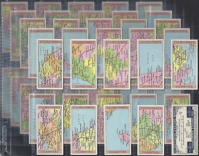 Churchman-Full Set- Sectional Cycling Map (50 Cards) - Exc