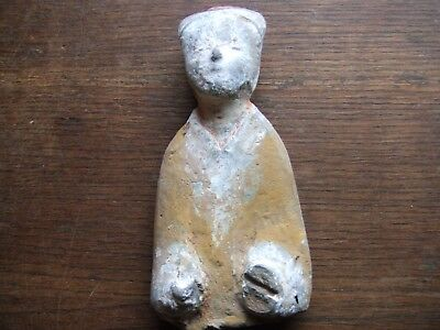 China.  Han Dynasty.  205 Bc - 220 Ad.   Terracotta Figure   Nice Condition.
