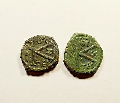 Ancient Byzantine Bronze Coin - LOT OF 2