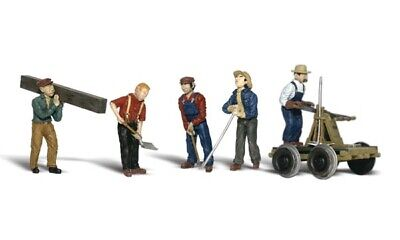 NEW Woodland Accents Rail Workers Train Figures O A2747 FREE US SHIP
