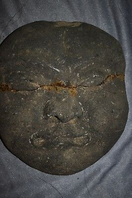 """ORIG $699 CHINESE PREHISTORIC BURIAL MASK 14"""" prov"""
