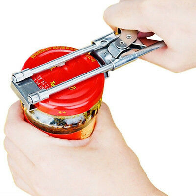 Heavy Duty Stainless Adjustable Can Bottle Jar Lid Opener Manual Home Tool 3T