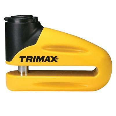 Trimax T665LY Hardened Metal Disc Lock - Yellow 10mm Pin Long Throat with Pouch