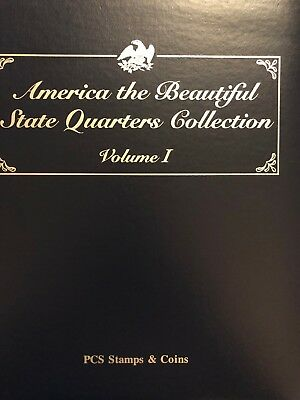 PCS AMERICA THE BEAUTIFUL STATE QUARTERS COLLECTION ALBUM Incomplete 40 Coins