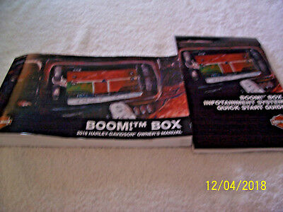 Harley Used 2016 Boom Box Owners Manual! Free Shipping!!
