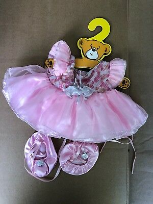 Build A Bear Pink Outfit Ballerina Tutu Costume Slippers BABW Princess VIntage