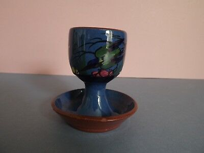 Vintage Torquay Pottery Kingfisher Blue Egg Cup