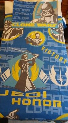 STAR WARS Single Duvet Cover & Pillow case Set - Attack Of The Clones. VGC