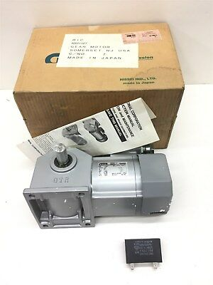 Brother Corp Gear Motor 1/10 HP GTR 1 Phase 115 Volt 1:60 Ratio