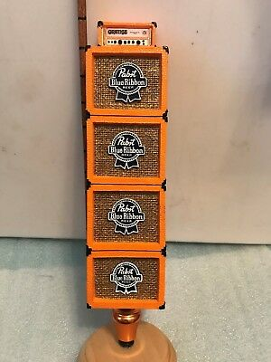 PBR PABST BLUE RIBBON ORANGE AMPS beer tap handle. Milwaukee,Wisconsin