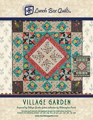 VILLAGE GARDEN QUILT MACHINE EMBROIDERY CD, from Lunch Box Quilts, *NEW*