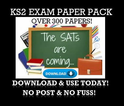 Ks2 Sats Year 6 Practice Papers Over 300 English/reading Test/maths/grammar