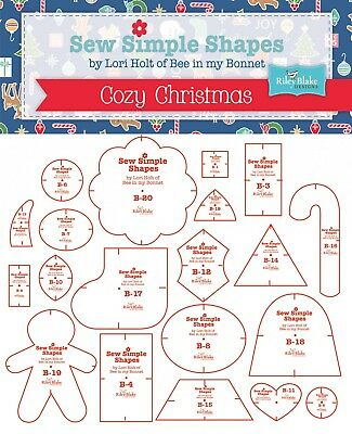 SEW SIMPLE SHAPES COZY CHRISTMAS TEMPLATES, from Riley Blake Designs, *NEW*