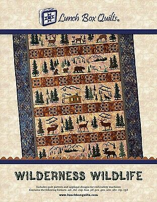 WILDERNESS WILDLIFE QUILT PATTERN, Digital Download From Lunch Box Quilts NEW