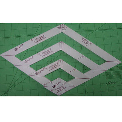 VIEW & DO 60 DEGREE DIAMOND SHAPE TEMPLATE, from Kaye Wood Inc., *NEW*
