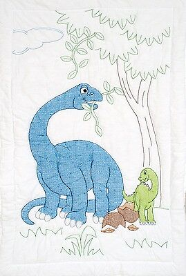 DINOSAURS CRIB QUILT TOP EMBROIDERY PATTERN, from Jack Dempsey Inc., *NEW*
