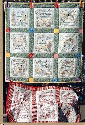FRIENDSHIP GARDEN QUILT HAND EMBROIDERY PATTERN, From Bird Brain Designs NEW