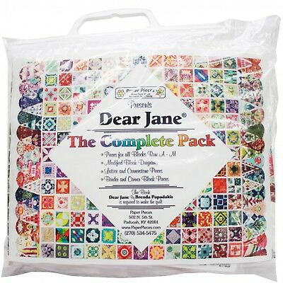 COMPLETE PAPER PIECE PACK FOR DEAR JANE QUILT PATTERN, From Paper Pieces NEW