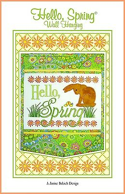 HELLO SPRING MACHINE EMBROIDERY PATTERN w/CD, from Janine Babich Designs, *NEW*