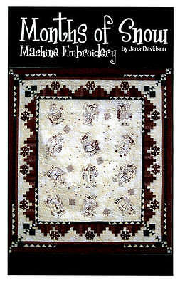 MONTHS OF SNOW, Machine Embroidery Pattern From Turnberry Lane Patterns ON SALE