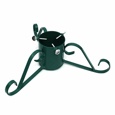 Christmas Tree Stand Green Traditional Wrought Iron Metal, 7ft (2.1m) Real Trees