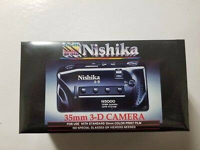 NISHIKA N9000 35mm Film 3D Camera, Factory Sealed, NEW OLD STOCK