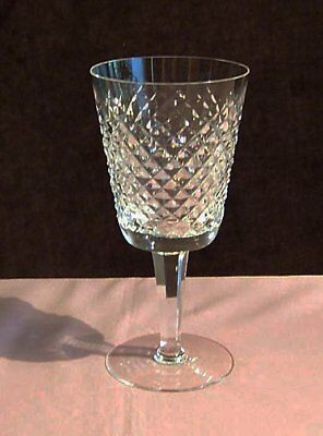 "Vintage Waterford Alana Water Goblet, 6 7/8"" , Made in Ireland. No Box"
