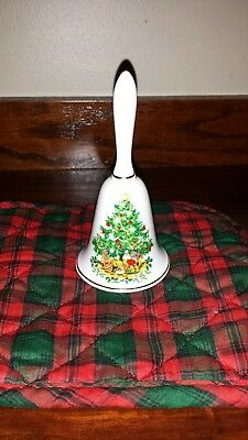 Vintage Brinton Bone China Christmas Bell Christmas Tree Presents Clapper Intact