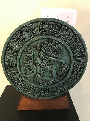Mayan Ballgame Maya Aztec Wall Plaque Sculpture Statue Pre-Columbian Ancient Art
