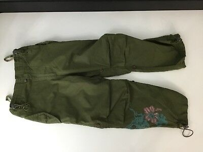 Maharishi, Girls,khaki Green, Combats, Snow Pants, Age 4 Years, Embroid, Vgc