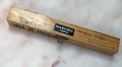Antique Vintage Harling London Proportional Compass In Original Wooden Box