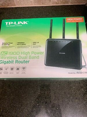 TP-LINK AC1900 Wireless AC Dual Band Gigabit Router Archer C1900 New Sealed