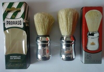 2 Omega pennelli barba shaving brush boar setola collection 48 proraso