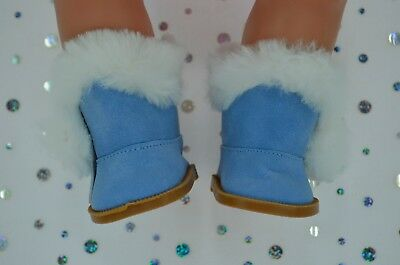 """Dolls Shoes For 17""""Baby Born~18""""American Girl  BLUE WINTER BOOTS"""