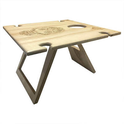 PORTABLE Picnic Table | Wooden Wine Table | Square Natural