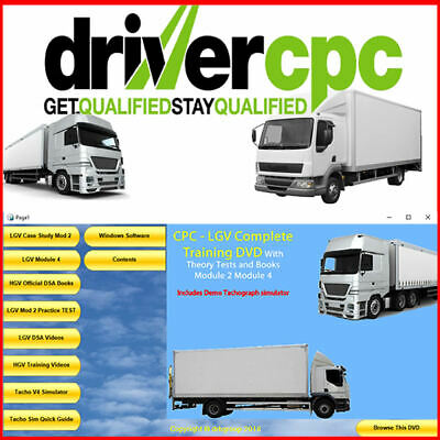 LGV Driver CPC Complete Training Module 2 & 4 Plus Lorry Driving Theory Test DVD