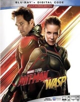 Ant-Man And The Wasp(Blu-Ray+Digital)W/slipcover New