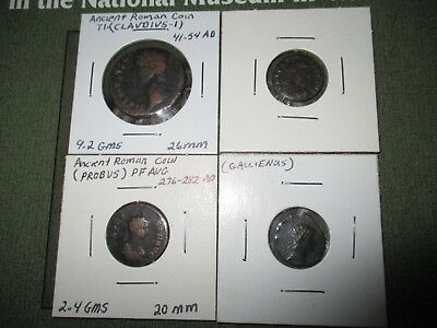 Lot of 4 Ancient Roman Imperal coins
