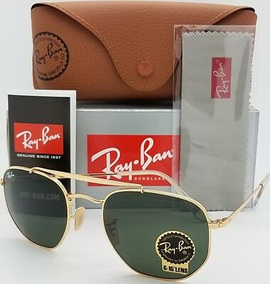 2a5cf5f43c NEW Rayban Marshal sunglasses RB3648 001 Gold Classic Green G-15 3648  AUTHENTIC