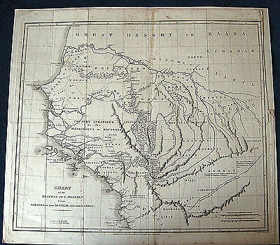 1820 W AFRICA MAP Mollien Senegal Gambia RIVERS antique large slave UNCOMMON