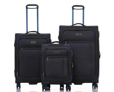 JEEP Fuji Soft Luggage 3 piece set expanding Lightweight Dark Grey
