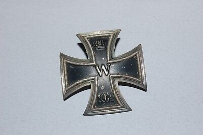 Ww1 German Iron Cross 1St Class. Vaulted.  Screw Back Stamped 800