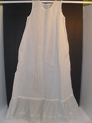Antique Baby's Petticoat Long Broderie Anglaise Trim at Hem Victorian Edwardian