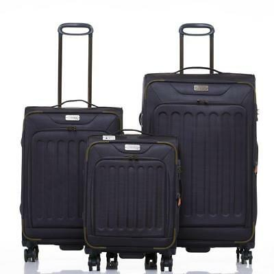 JEEP Savannah Soft Luggage 3 piece set expanding Lightweight grey