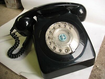 Vintage  GPO Telephone Black - traditional rotary dial